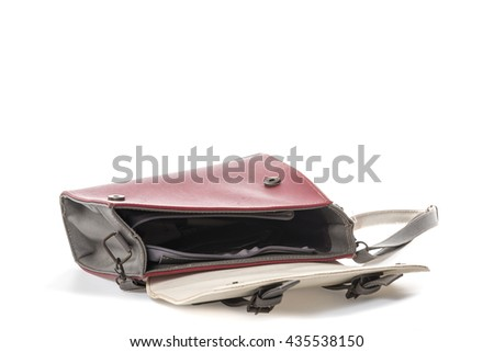 old woman bag on white background