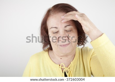 old woman head ache