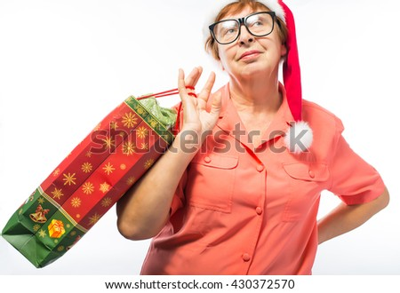 old woman with gifts