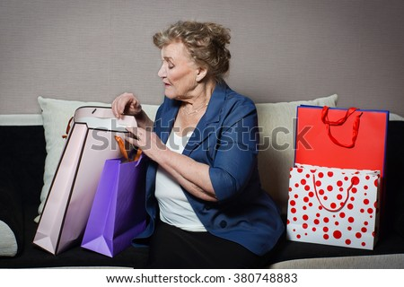 old woman with her shopping