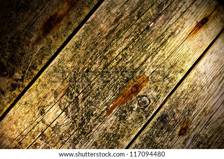 Old Wood Background illuminated from two sides - stock photo