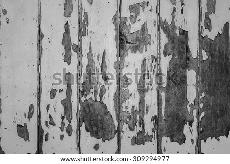 old wood background with gray paint
