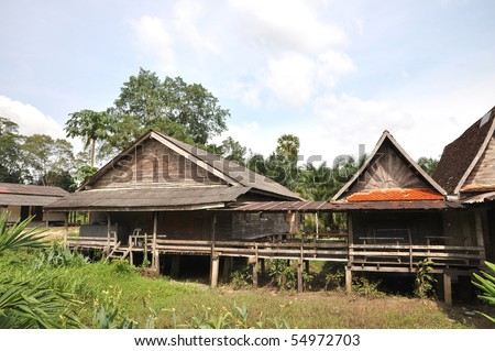 Old Wood Barrack Thailand Country - stock photo
