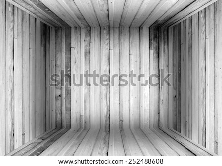 Old Wood Box Background resemble room - stock photo