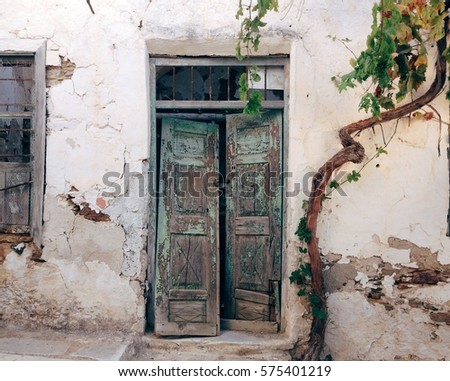 Old Wood Broken Door