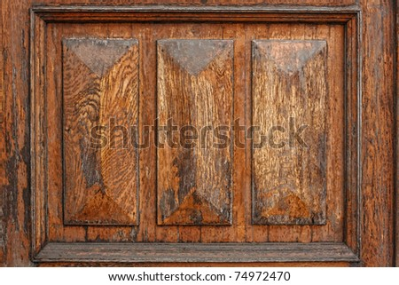 Old wood door texture - stock photo