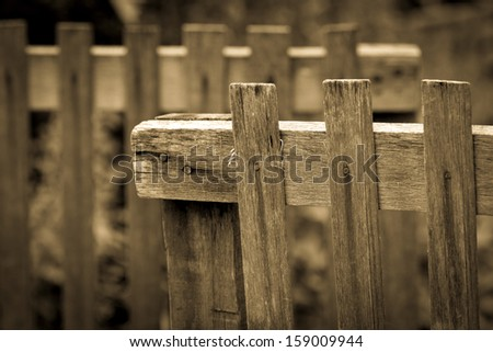 old wood fence backgrond - stock photo