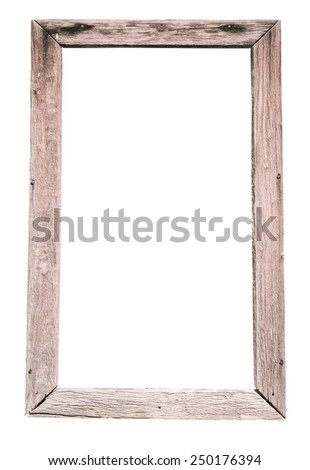 Old wood frame - stock photo