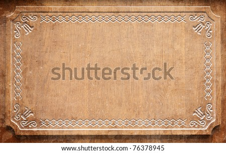 old wood frame (for background) - stock photo