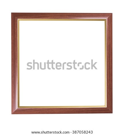 Old wood frame isolated on a white