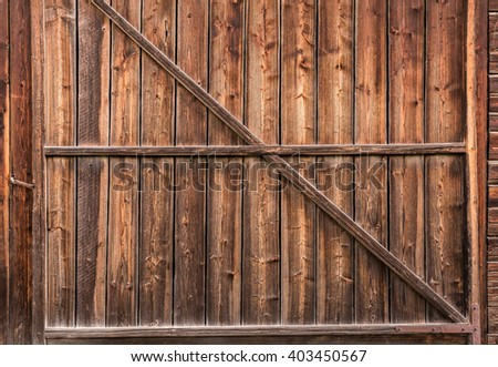 Old wood gate for texture background. Old pine wood.