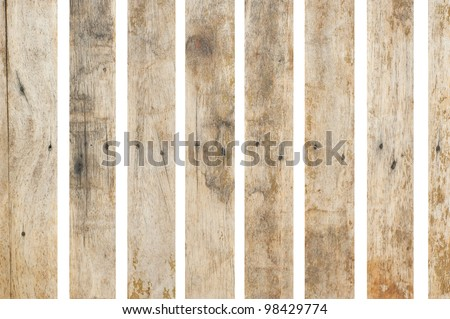 Old wood on white background - stock photo