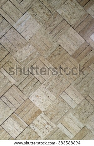 Old Wood Parquet Floor texture. Vintage Wood Floor background. - stock photo