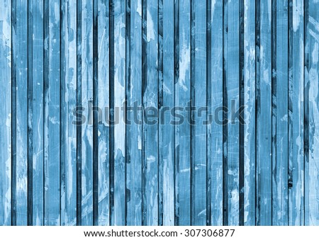 Old Wood Place Mat, Bleached and Blue Stained Varnished, Weathered, Cracked, Scratched Grunge Texture.