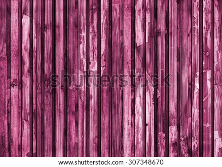 Old Wood Place Mat, Bleached and Magenta Stained, Varnished, Weathered, Cracked, Scratched, Grunge Texture. - stock photo