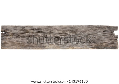 Old wood plank isolated on white with clipping path2 - stock photo