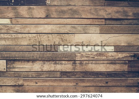 old wood plank wall for background and decoration