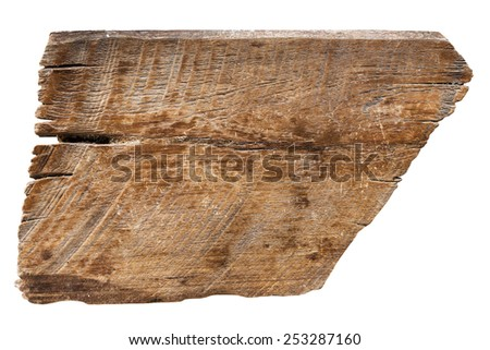 old wood planks textures isolated on white with clipping path.