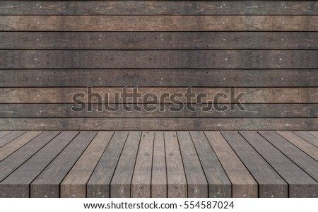 Old Wood room for background copy space. Product display template