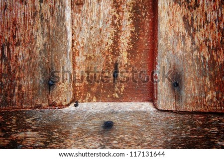 old wood texture about fifty year - stock photo