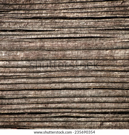Old wood texture. Decorative closeup fragment of natural material. Grunge style pattern for your design. - stock photo
