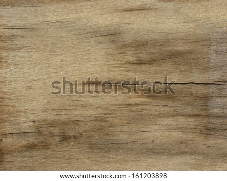 Old wood texture in various hues of brown and with several horizontal cracks. - stock photo