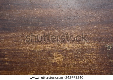 Old wood texture lacquered and scratched. - stock photo