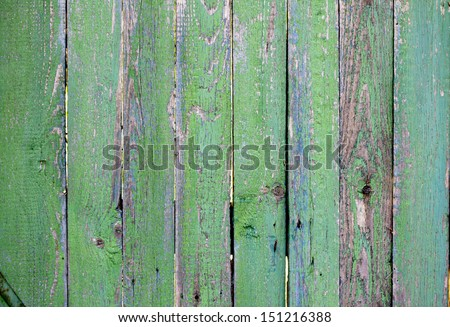 old wood texture of green paint