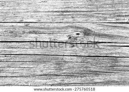 Old wood wall texture background.Black and white photo - stock photo