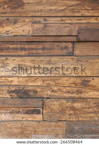 Old wood wall texture vertical style - stock photo