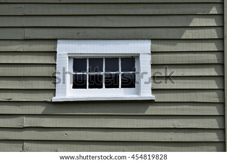 Old wood wall with window backdrop - stock photo