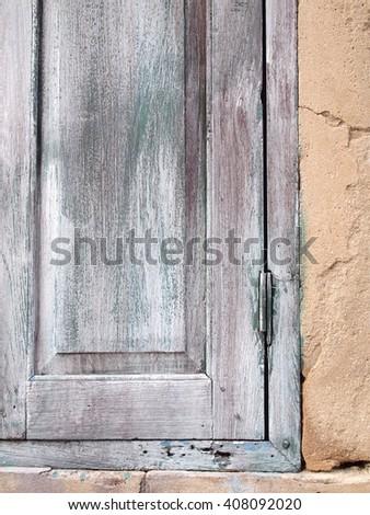 old wood window close up - stock photo