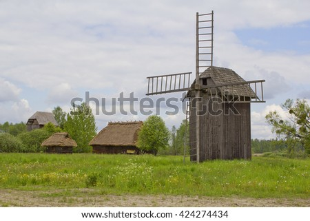 old wooden  - stock photo