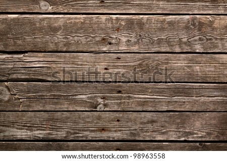 Old wooden background. Wooden table or floor. - stock photo
