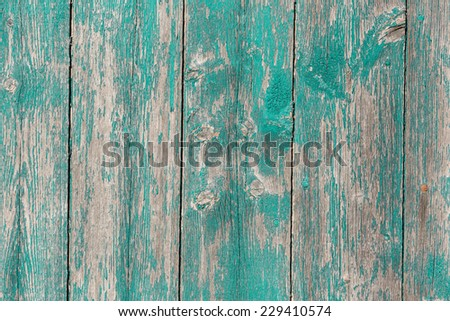 Old wooden  barn board with a distressed surface. - stock photo