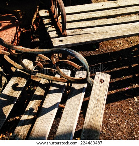 Old Wooden Benches