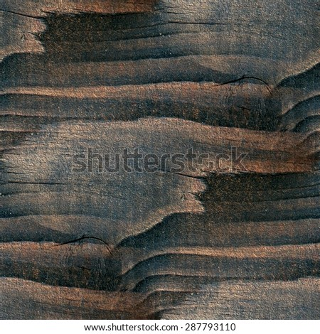 old wooden board, brown background, grunge grainy texture, seamless - stock photo