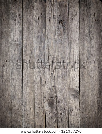 Old Wooden Boards with the Hammered Rusty Nails Background - stock photo