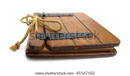 Old wooden book