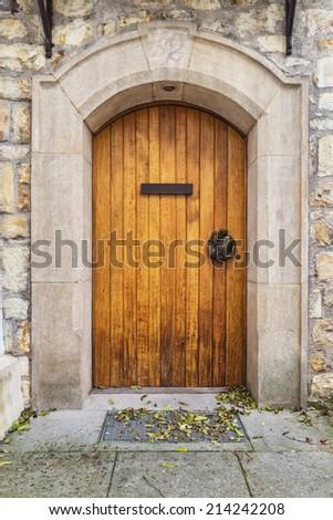 Old Wooden Castle Door Stock Photo 214242208 - Shutterstock