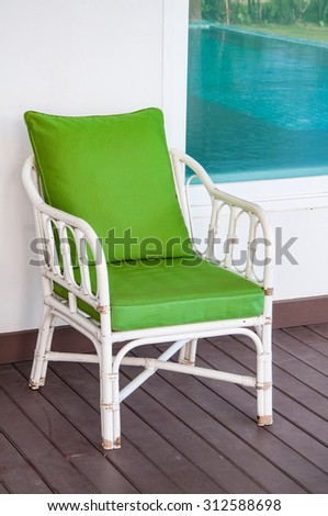 Old wooden chair decorative in home