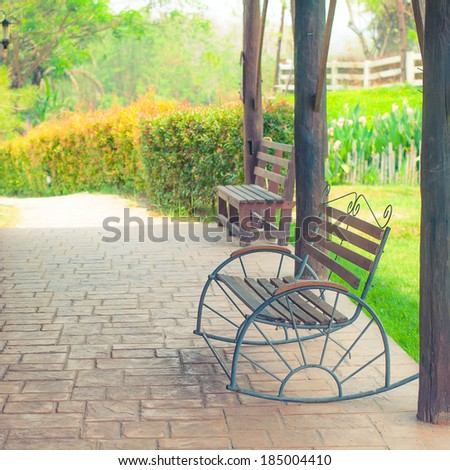 Old wooden chair in cowboy farm, Vintage style
