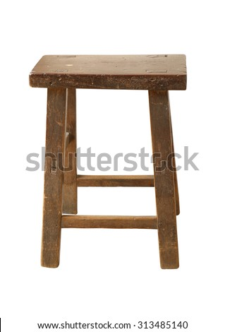 Old wooden chair on white background (with clipping path)  sc 1 st  Shutterstock & Old Wooden Stool Stock Images Royalty-Free Images u0026 Vectors ... islam-shia.org