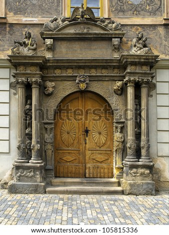 old wooden Church Door