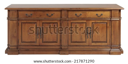 Old wooden classic style cabinet - stock photo