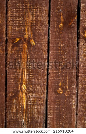 Old wooden door detail and background texture - stock photo