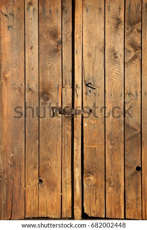 Old wooden door, graphic element and background