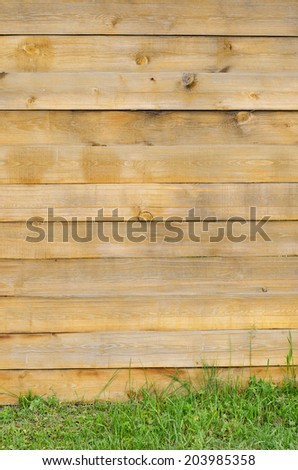 old wooden fence painted