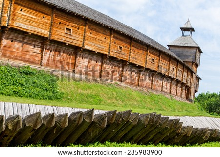 Stock images similar to id 22448029 defense tower on a for Old wooden forts