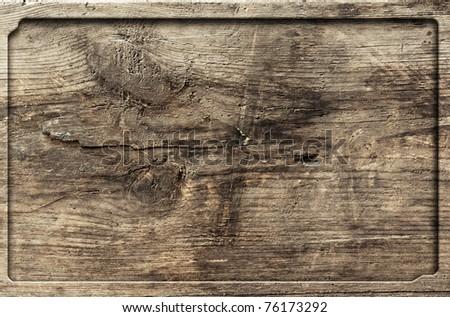 old wooden frame, vintage background - stock photo